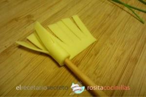 escobitas de queso - paso 2