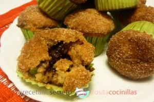 Muffins de canela y nocilla