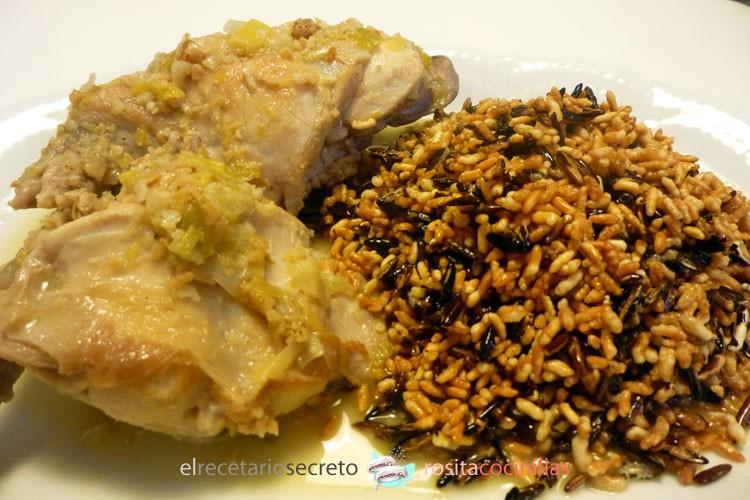 arroz salvaje como acompañamiento