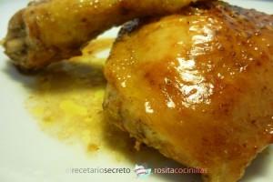 pollo agridulce al horno