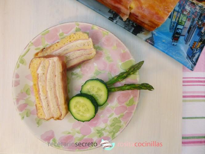 Pastel de jamón y queso